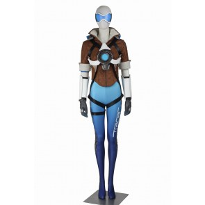 Overwatch Tracer Cosplay Costume Uniform Blue