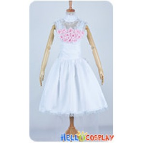 Chobits Cosplay Clamp Chii Elda Pure Wedding Dress Costume