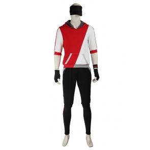 Pokemon GO Male Red Uniform Cosplay Costume