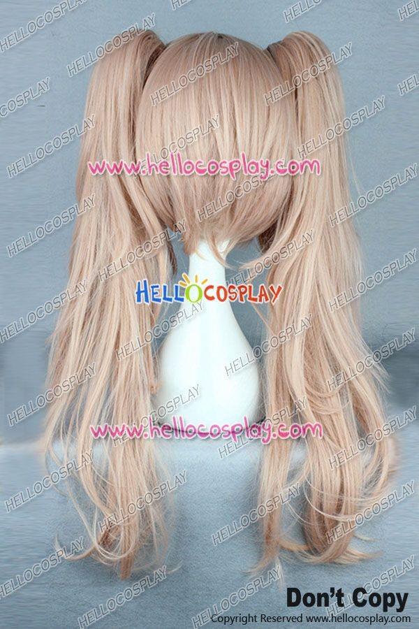 Danganronpa Junko Enoshima Cosplay Wig Flesh Pink Long