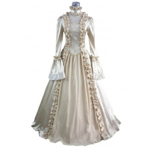 Victorian Lolita Georgian Reenactment Gothic Lolita Dress Beige
