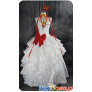 Vocaloid 2 Cosplay Megurine Luka Gothic White Formal Dress Costume