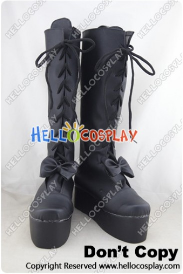 Date A Live Cosplay Shoes Kurumi Tokisaki Black Boots
