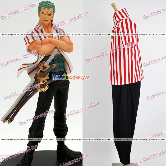 One Piece Cosplay Roronoa Zoro Costume Figure Ver