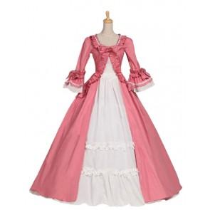 Gothic Renaissance Victorian Steampunk Gown Reenactment Pink Lolita Dress Costume