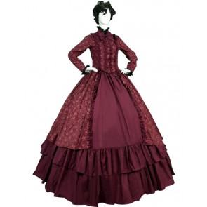 Victorian Lolita Reenactment Theatre Period Floral Gothic Lolita Dress