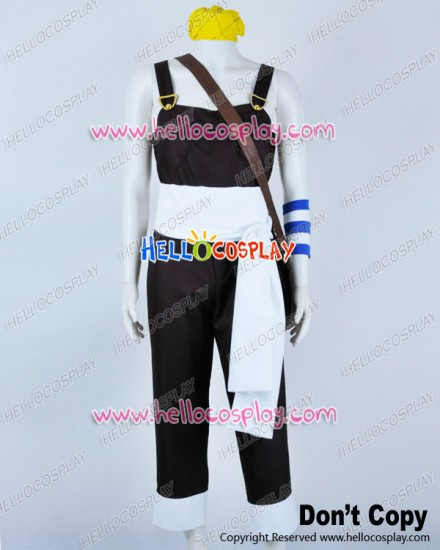 One Piece Cosplay Usopp Usoppu Bib Overalls Brown Costume