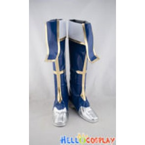 BlazBlue Cosplay Shoes Jin Kisaragi Boots Navy Blue