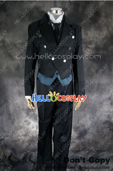 Black Butler Kuroshitsuji Cosplay Sebastian Michaelis Uniform Costume