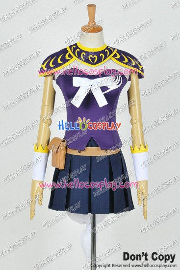Fairy Tail The Grand Magic Games Cosplay GMG Lucy Heartfilia Costume Purple