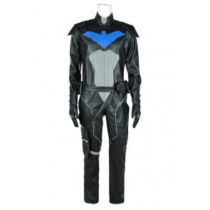 Young Justice Cosplay Nightwing Uniform Costume Jumpsuit Black Version
