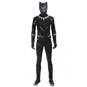 Captain America 3 Civil War Black Panther Cosplay Costume Jumpsuit