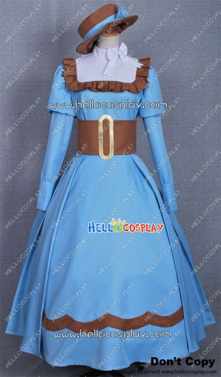 Black Butler Kuroshitsuji Elizabeth Midford Cosplay Blue Dress