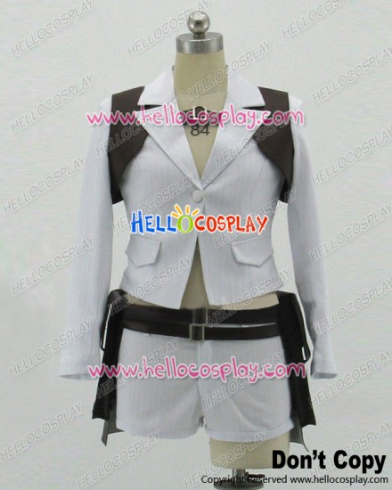 Devil May Cry 4 Cosplay Mary Lady White Uniform Costume