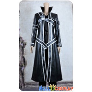 Sword Art Online Cosplay Kirito Kazuto Kirigaya Black Leather Uniform Costume New