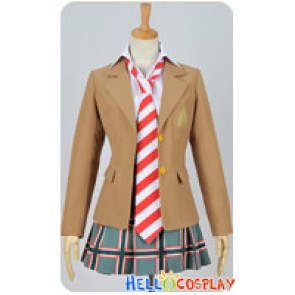 Coppelion Cosplay Ibara Naruse Stripe Tie Girl Uniform Costume
