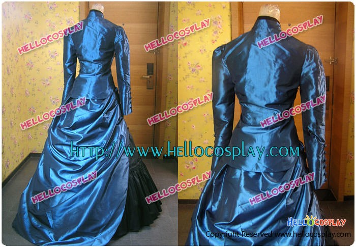 Victorian Gothic French Bustle Dress Ball Gown Cosplay