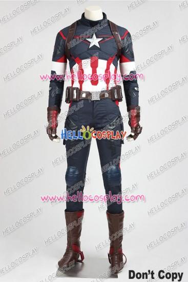 Avengers Age Of Ultron Captain America Steve Rogers Cosplay Uniform
