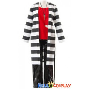 Lucky Dog 1 Cosplay Giulio Di Bondone Prisoner Costume PU Pants Ver