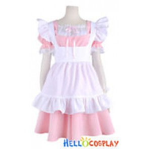 Cute Girl Maid Pink Dress