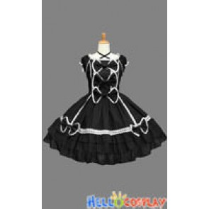 Sweet Lolita Gothic Punk Luxurious Black Dress