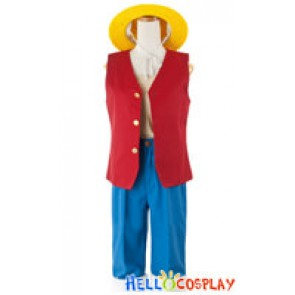 One Piece Cosplay Monkey D Luffy Straw Hat Costume Full Set