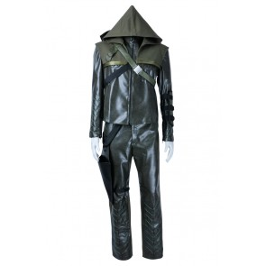 Green Arrow Cosplay Costume Oliver Queen Suit Uniform