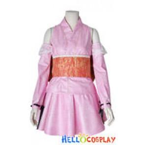 Vocaloid 2 Cosplay Hatsune Miku Costume Pink Kimono Dress