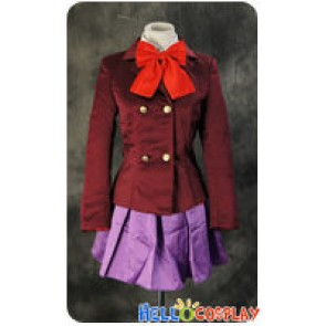 Another Cosplay Mei Misaki Purple Uniform Costume
