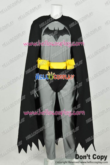 Batman The Dark Knight Bruce Wayne Cosplay Costume Jumpsuit Leather Version