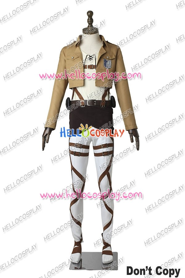 Attack On Titan Shingeki No Kyojin Eren Yeager Cosplay Costume