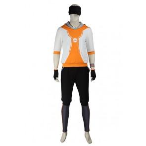 Pokemon GO Male Orange Uniform Cosplay Costume