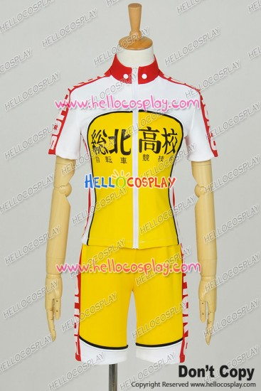 Yowamushi Pedal Cosplay Sakamichi Onoda Sohoku High School Racing Uniform Costume