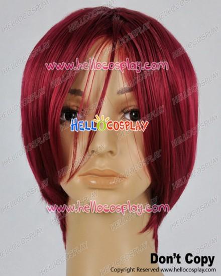 Free Iwatobi Swim Club Cosplay Rin Matsuoka Dark Red Wig