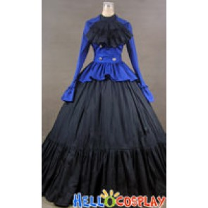 Victorian Civil War Jacket Day Dress Ball Gown Cosplay