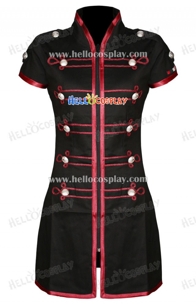Black Red My Chemical Romance Emo Military Parade Dress