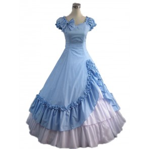 Victorian Lolita Southern Belle Evening Gothic Lolita Dress Sky Blue