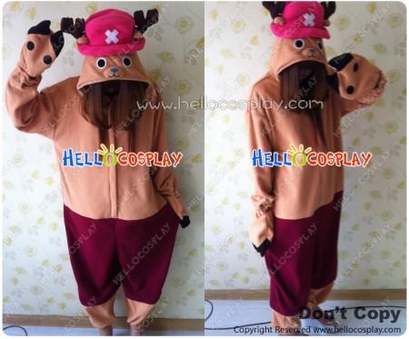One Piece Cosplay Tony Tony Chopper Costume Kigurumi Pajamas