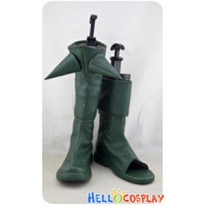 League Of Legends LOL Cosplay Shoes Riven Green Boots
