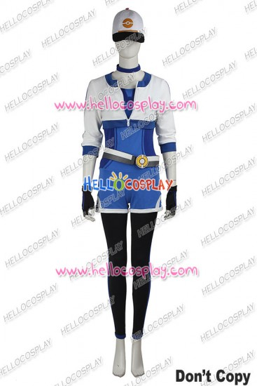 Pokemon GO Female Blue Uniform Cosplay Costume