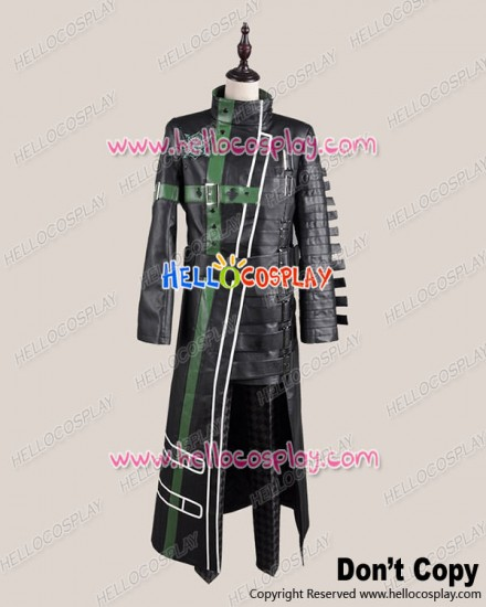 Amnesia Cosplay Kent Kento Costume Black Green Coat Uniform