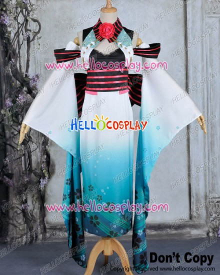 Vocaloid Cosplay Exotic Diva Miku Costume Kimono Dress