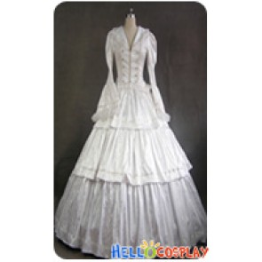 Victorian Lolita Civil War Evening Gothic Lolita Dress White