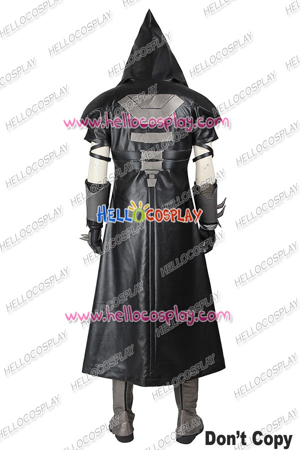 overwatch ow game reaper gabriel reyes cosplay costume uniform