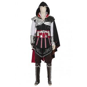 Assassin's Creed II Ezio Auditore da Firenze Cosplay Costume Black