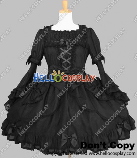 Sweet Lolita Gothic Punk Classical Victorian Black Dress