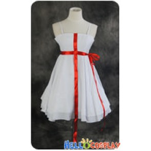 Guilty Crown Cosplay Inori Yuzuriha White Sling Dress Costume