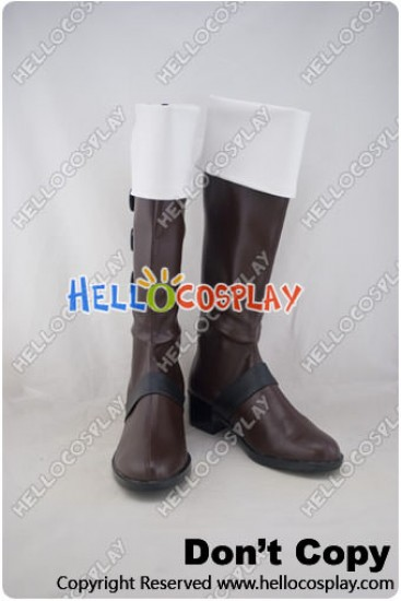 Vocaloid Cosplay Shoes Kagamine Len Brown White Boots
