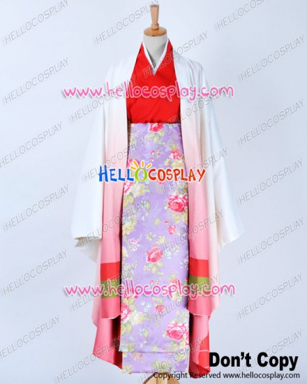 Vocaloid 2 Cosplay Meiko Senben Zakura Costume Geisha Kimono