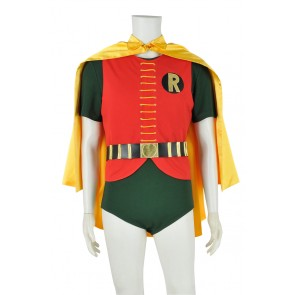 Batman 1966 Cosplay Robin Yellow Cape Uniform Costume
